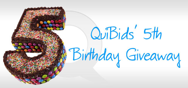 QuiBids 5th Birthday Giveaway