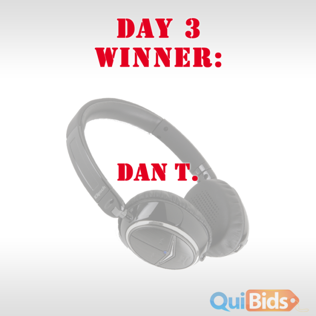 Day 3 winner - Dan T.