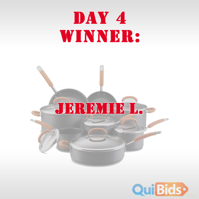 QuiBids 5th Birthday - Day 5 Winner