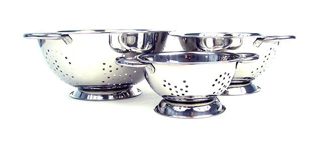 Chef Buddy 3-Piece Stainless Steel Colander Set