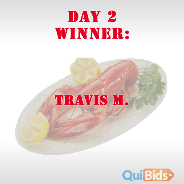 Day two winner - Travis M.