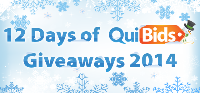 12 Days of QuiBids Giveaways 2014