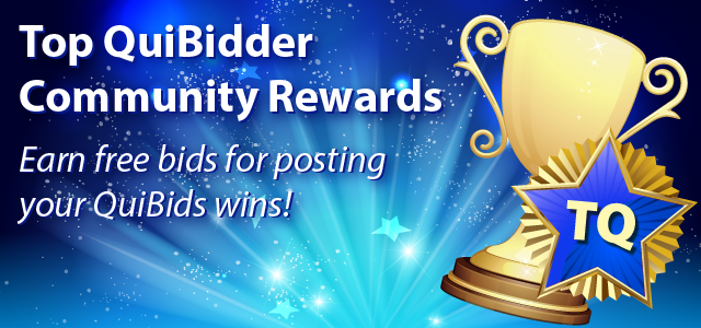 QuiBids Top QuiBidders Community Rewards - 2015
