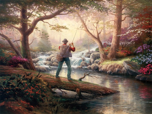 Thomas Kinkade - Doesn't Get Much Better