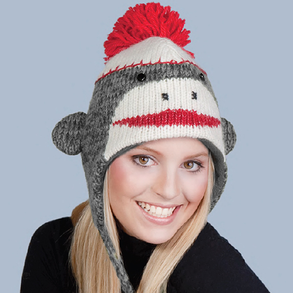 Knitting Pattern For Monkey Hat : Are You A Member Of The Sock Monkey Hat Club? QuiBids Blog