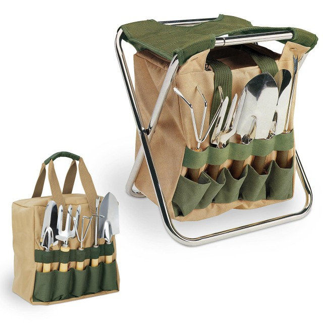 Picnic Time Gardener Seat and Tools