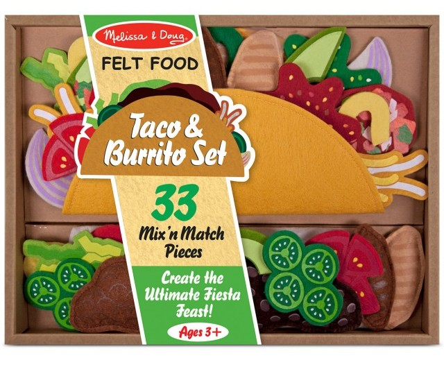 Melissa & Doug Felt Food Taco and Burrito Set