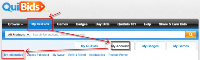 My QuiBids Email Newsletter Sign Up