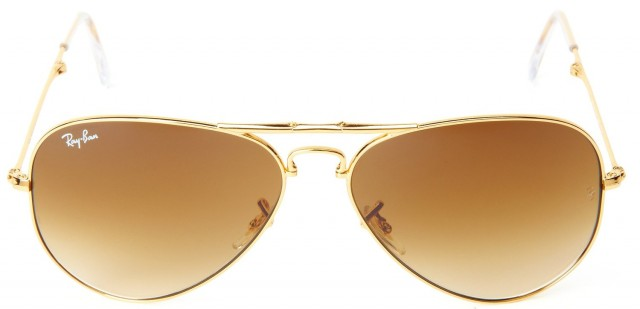 Ray-Ban Aviator Large Metal Unisex Sunglasses - Gold