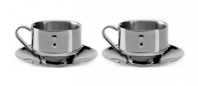 Straight 3oz Coffee Cup and Saucer