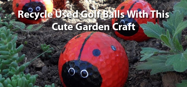 Recycle Used Golf Balls With This Cute Garden Craft