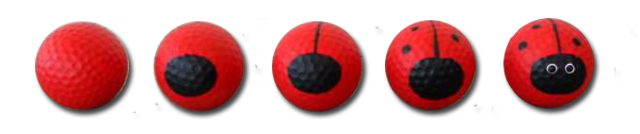 Golf Ball Ladybug Stages