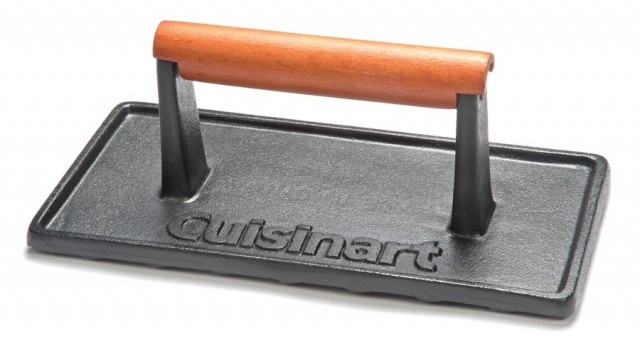Cuisinart Cast Iron Grill Press With Wood Handle