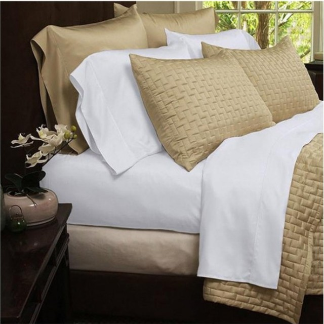 Hotel Comfort 1800 Series Organic Bamboo Bed Sheets - White