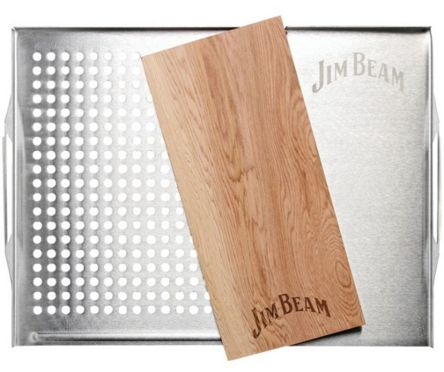 Jim Beam Cedar Plank Grill Topper Set