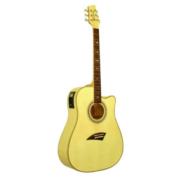 Kona Cutaway Electric/Acoustic Guitar with Digital Tuner