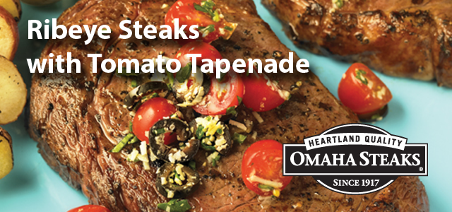 Ribeye Steaks with Tomato Tapenade