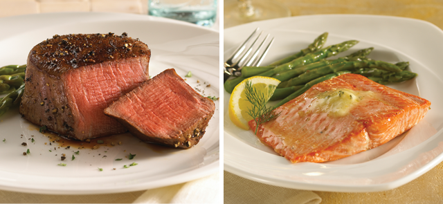 Omaha Steaks Filet Mignons & Salmon Filets