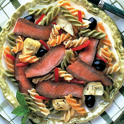 Beef, Pasta & Artichoke Salad with Balsamic Vinaigrette