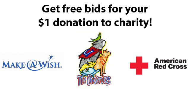 Now You Can Get Free Bids When Donating To Charity At