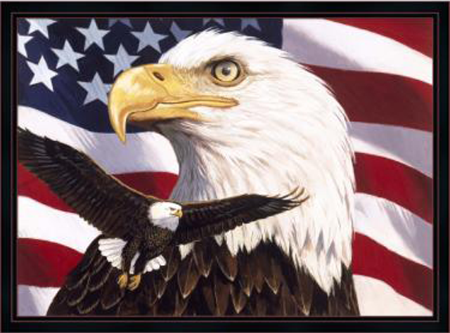 Eagle And Flag by William Vanderdasson