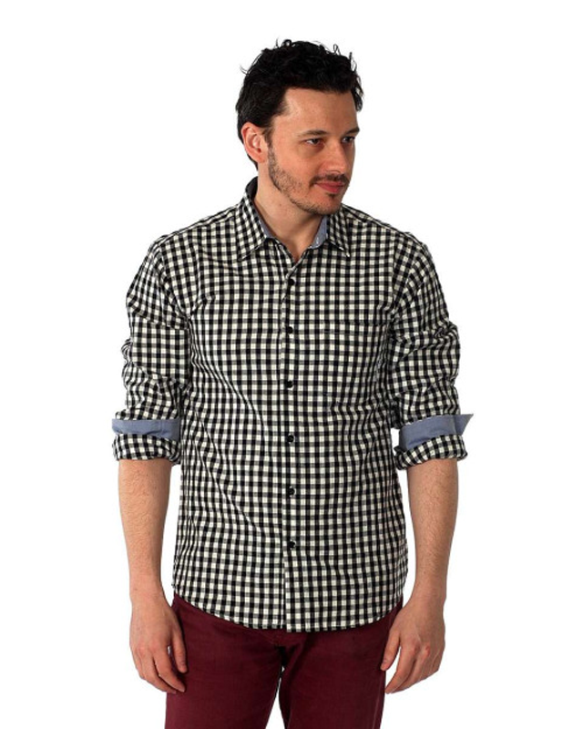 Filthy Etiquette Mens Gingham Plaid Shirt