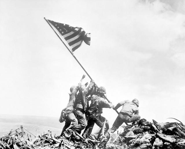 Flag Raising on Iwo Jima February 23 1945 by Joe Rosenthal
