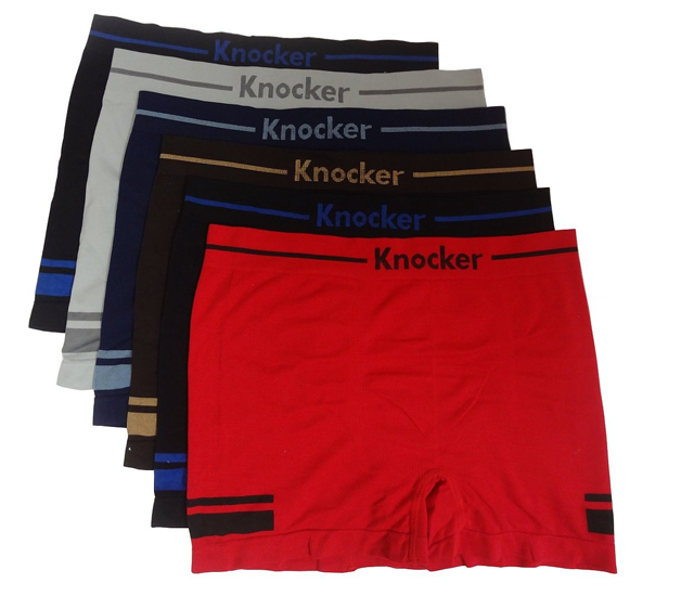 Knocker 12-Pack Mens Seamless Underwear