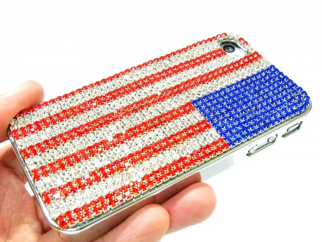 South Shore Fine Living iPhone 5 Cover with USA Flag Design