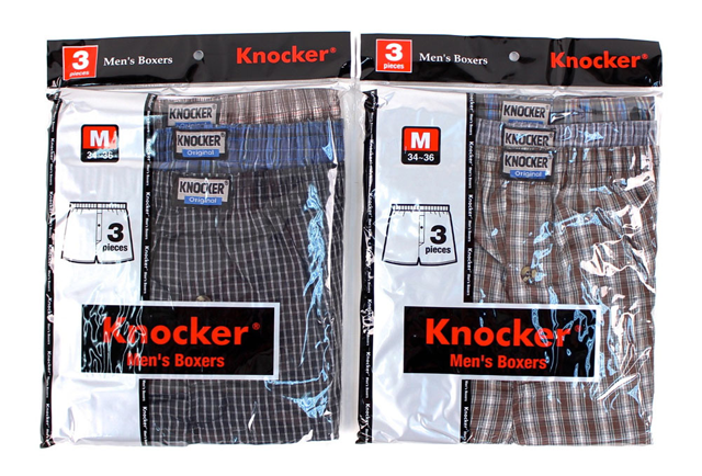 Style Like Mine Knocker Mens Plaid Boxer Shorts Underwear