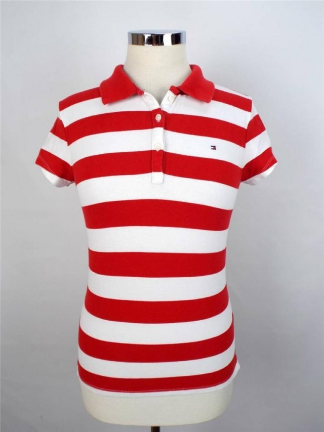Tommy Hilfiger Red Flag Stripe Polo