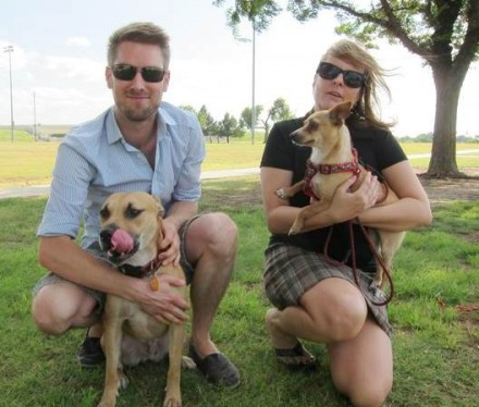 QuiBids Employees Meike and Jared, founders of The Underdogs Rescue Organization