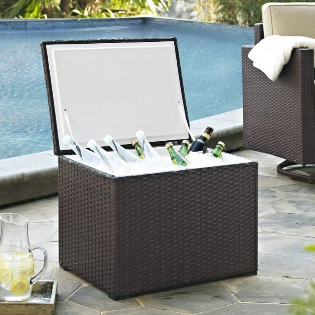 Crosley Palm Harbor Outdoor Wicker Cooler