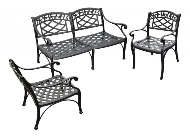 Crosley Sedona 3-Piece Cast Aluminum Outdoor Conversation Seating Set