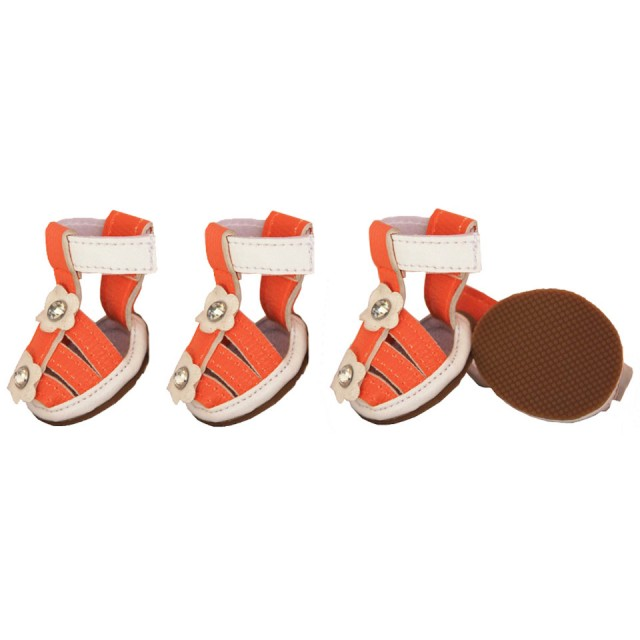 Pet Life Waterproof Dog Sandals - Orange