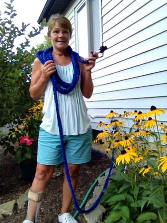 Janise C. and the Expandable Hose