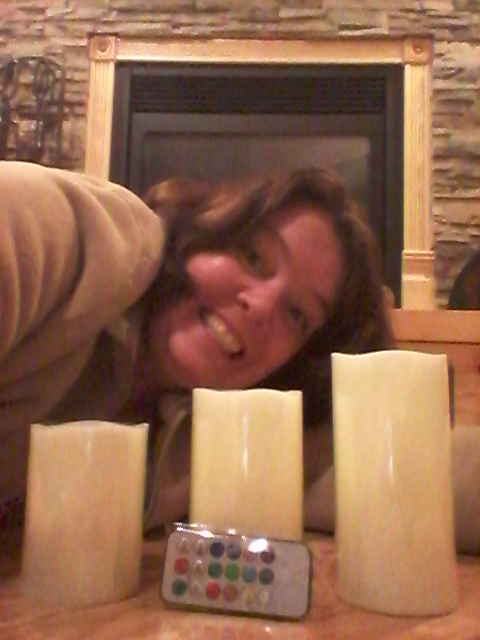 Cindy won these Vanilla Scented LED Candles on QuiBids for $0.24 using only 3 voucher bids. She saved 99% off! #QuiBidsWin