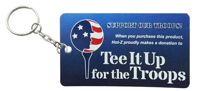 Tee It Up for the Troops KeyChain