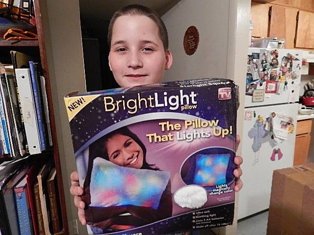 Robert won this cool light-up pillow for his son for $0.13 using only 4 real bids! #QuiBidsWin