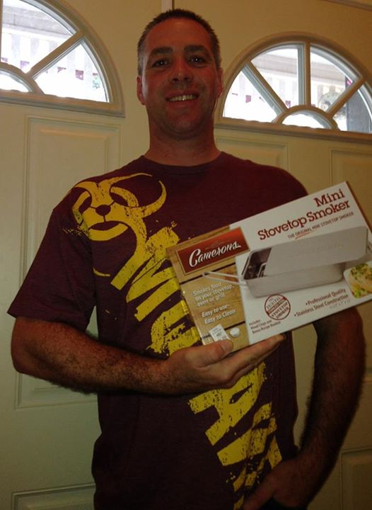 Doug won this mini stovetop smoker on QuiBids for $0.20 using 5 voucher bids #QuiBidsWin