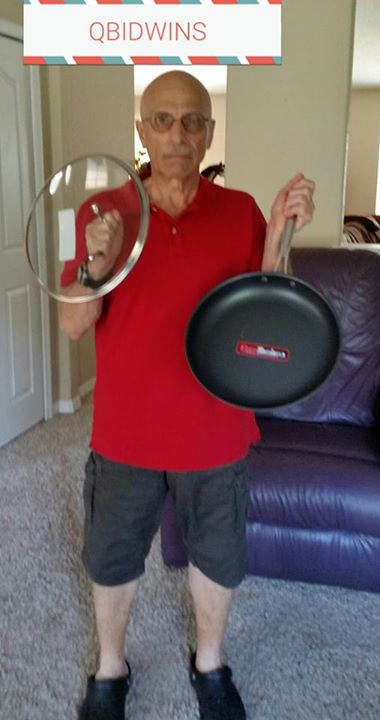 Monteen won this Cuisinart Non-stick Skillet for $0.56 using 22 real bids and 2 voucher bids! #QuiBidsWin