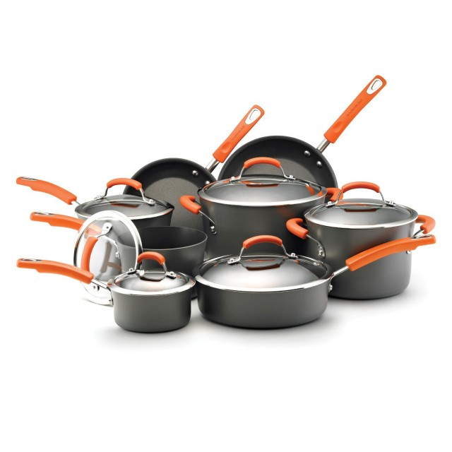 Rachael Ray 14-Piece Hard Anodized II Nonstick Cookware Set