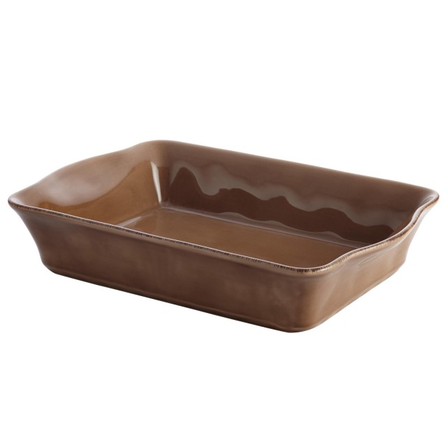 Rachael Ray Cucina Stoneware Rectangular Baker - Mushroom Brown