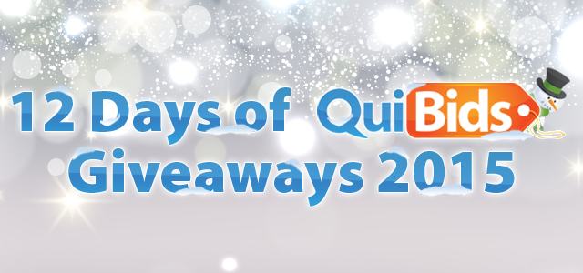 12 Days of QuiBids Giveaways 2015