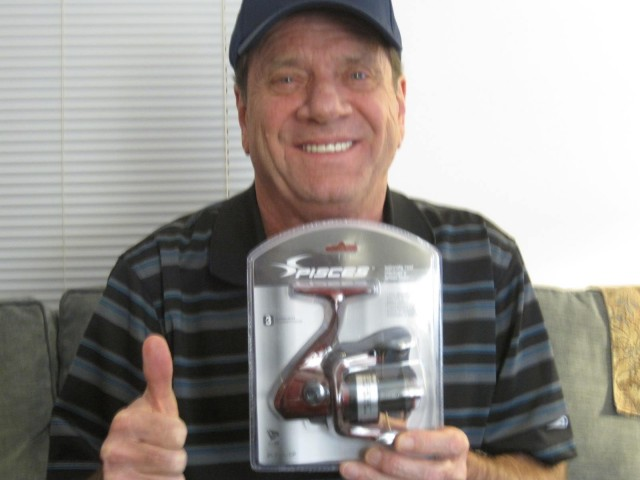 Kevin won this fishing reel for $0.04 using only 1 voucher bid! #OneBidWin