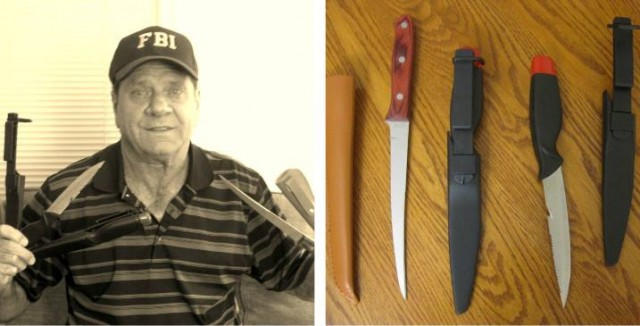 Kevin won these fishing filet knives for $0.03 using only 2 voucher bids! #QuiBidsWin