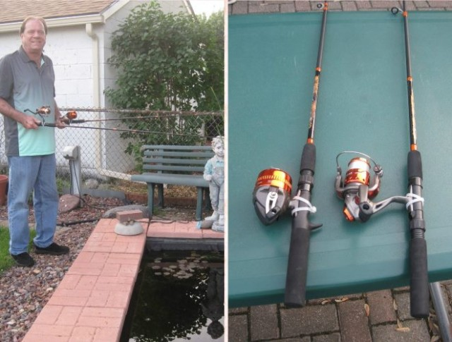 Kevin won both of these rod and reel combos on QuiBids at a savings of 99%! #QuiBidsWin