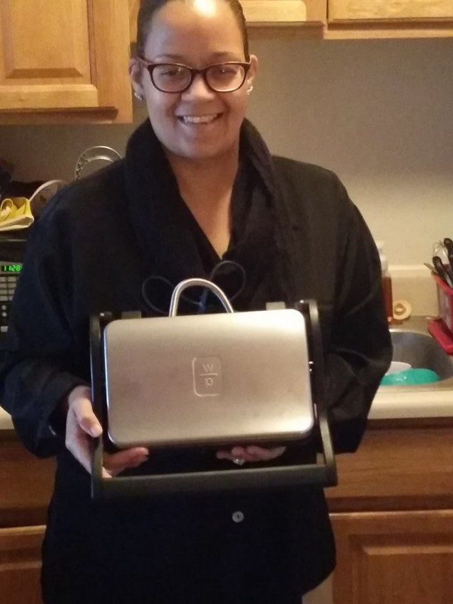 Brian won his wife this Panini maker for $13.79! #QuiBidsWin