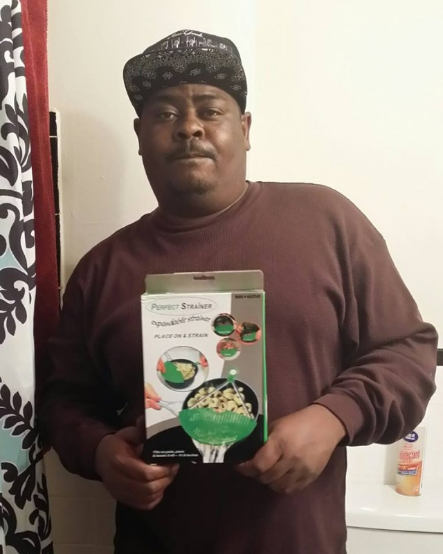 Brian won this clip-on strainer for $0.01 using one voucher bid! #QuiBidsWin #OneBidWin