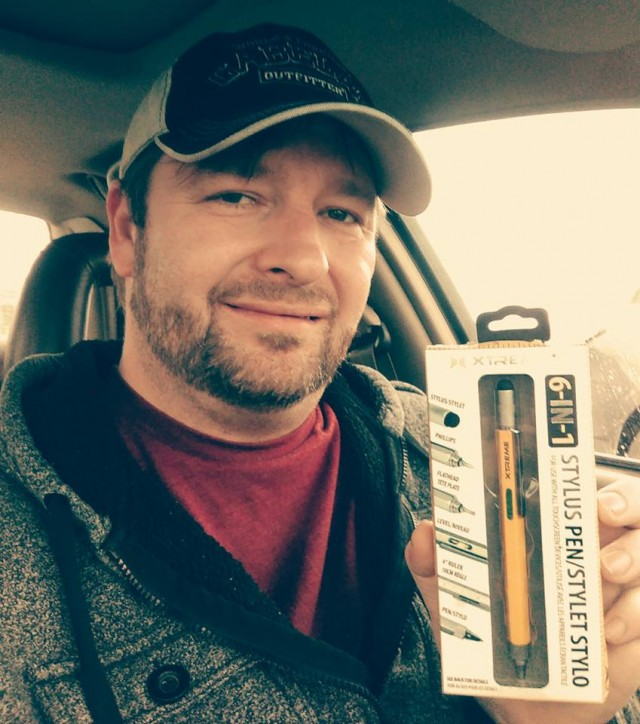 Steve won this 6 in 1 stylus multi-tool for $0.11 using only 6 voucher bids! #QuiBidsWin